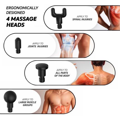Outil de massage musculaire PHOENIX A2 Outil de fasce électrique Black Plug US EVA Box C59941677-011