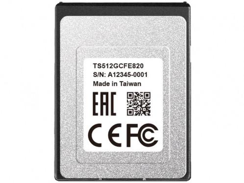 Transcend CFexpress 820 512 Go Carte mémoire CFexpress Type B CSTTSD0024-03