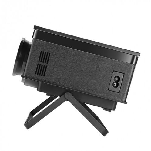 Mini projecteur vidéo PH400 1200 Lumens Projecteur vidéo multimédia SVGA 800x480 avec télécommande et support, distance de projection: 2-5m (noir) SH016B1880-09