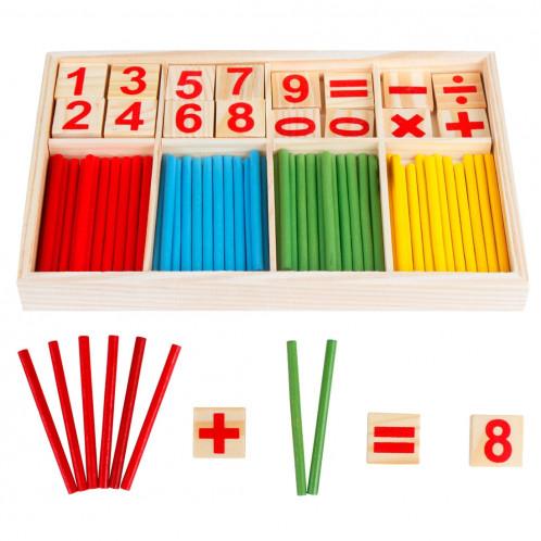 Intelligence Kids Sticks en bois à chiffres en bois SH0008444-04