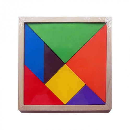 Bébé Jouet Fine Jigsaw Puzzle en Bois Grande Taille Tangram, Taille: 16 * 16cm SH0072819-08