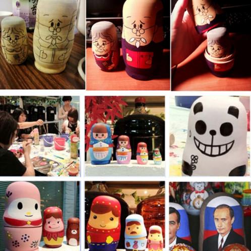 25pcs (5 sets) bricolage créatif bricolage blanc russe cinq couches de poupées SH6278259-06