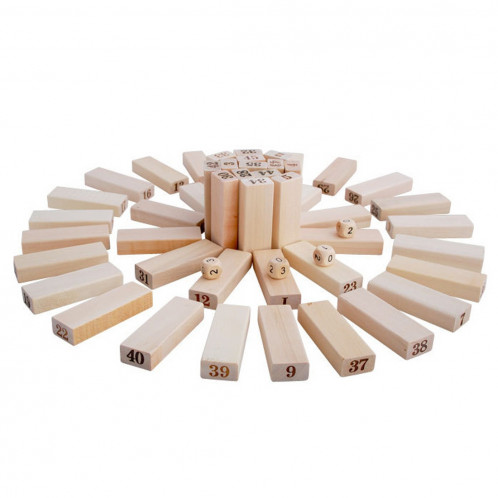 48 PCS Blocs de construction en bois SH70131197-05
