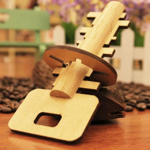 Jouets éducatifs en bois démontables de puzzle pour la clé de déverrouillage de serrure de jouet d'intelligence d'enfants SH45851928-03