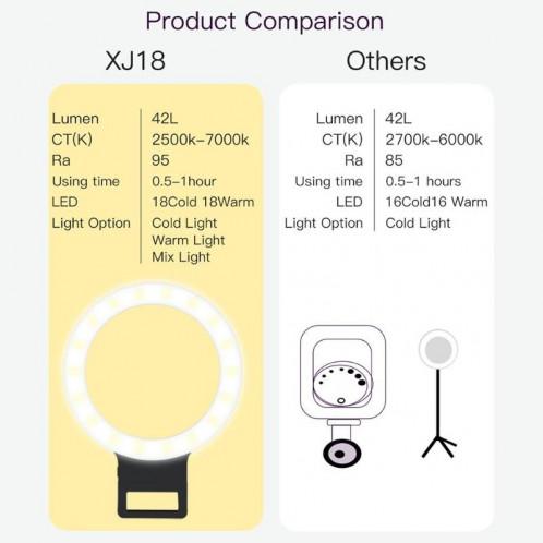 XJ18 LED Light Live Lumière de remplissage du flash avec retardateur (Noir) SH021B1476-09