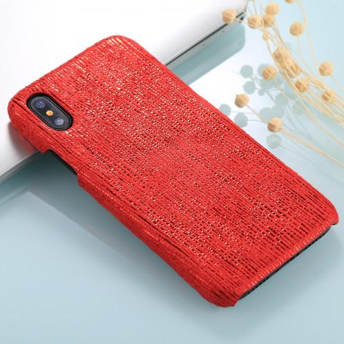 Pour iPhone X / XS PC Twinkle Stripes Motif Coque Arrière Couverture (Rouge) SH465R1984-06