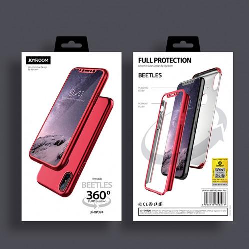 JOYROOM Beetles Series pour iPhone X / XS 360 Degrés Couverture Complète Détachable PC Housse De Protection (Ternissure) SJ641Q1996-011