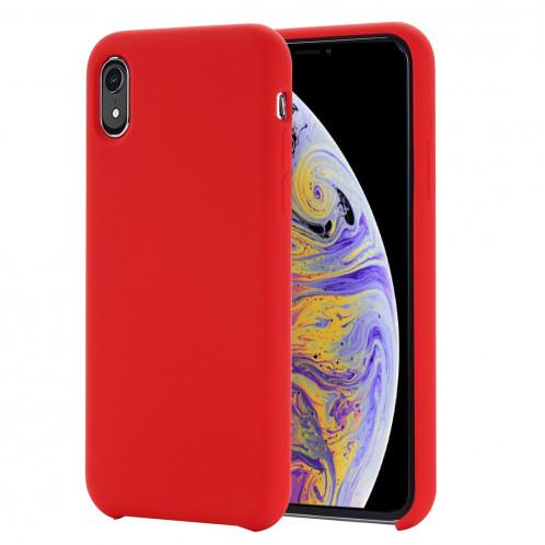 Housse de protection en silicone liquide à couverture intégrale pour 4,1 pouces, petite quantité recommandée avant le lancement de l'iPhone XS (rouge) SH098R1195-07