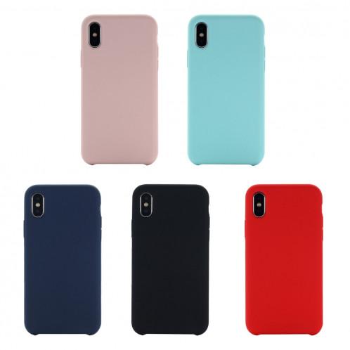 Étui de protection en silicone liquide à couverture intégrale à quatre coins pour iPhone XR 6,1 pouces (vert) SH098G167-07