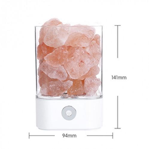 Sunshine M4 créative HIMALAYA Cristal Lampe de sel, USB Charge Table de Rock Table de travail saine lumière de nuit avec base (blanc) SH680W1597-07