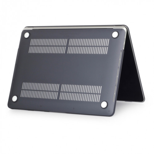 Étui de protection pour ordinateur portable de style givré pour MacBook Pro 15,4 pouces A1990 (2018) (Noir) SH317B19-04