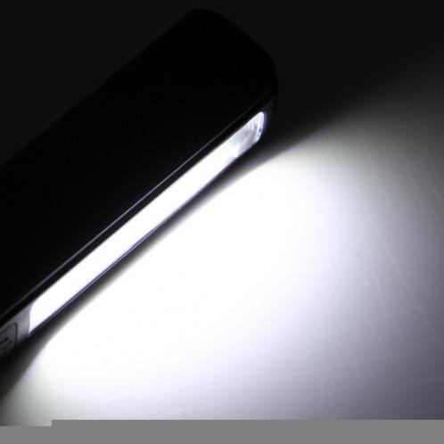 Lampe / lampe de poche de forme de stylo d'intense luminosité 100LM, lumière blanche, COB LED 2-Modes avec agrafe de stylo magnétique rotative de 90 degrés (noir) SH874B1201-011