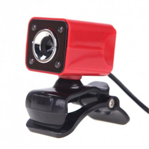 A862 caméra de fil USB rotative 12MP HD WebCam 360 degrés avec microphone et 4 lumières LED pour ordinateur de bureau Ordinateur portable PC Skype, longueur de câble: 1,4 m SH455R73-06