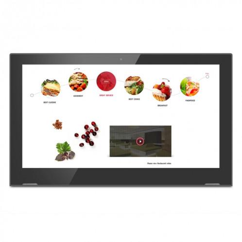 Cadre photo numérique à écran IPS de 17,3 pouces, RK3368 Octa-core Cortex A53 jusqu'à 1,5 GHz, Android 6.0, 1 Go + 8 Go, WiFi et Ethernet pris en charge et Bluetooth et cartes HDMI et TF et prise jack 3,5 mm SH10221608-05