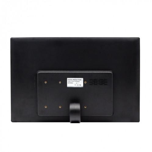 Cadre photo numérique à écran LED de 17,0 pouces avec support / télécommande, technologie Allwinner, prise en charge USB / carte SD / OTG, prise US / EU / UK (noire) SH321B1813-09