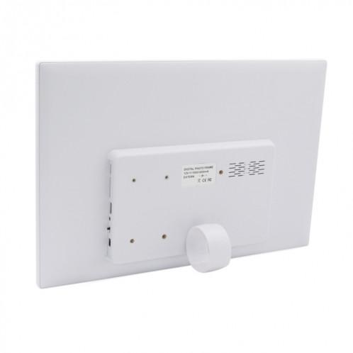 Cadre photo numérique à écran LED de 17,0 pouces avec support / télécommande, technologie Allwinner, prise en charge USB / carte SD / OTG, prise US / EU / UK (blanche) SH321W1341-09