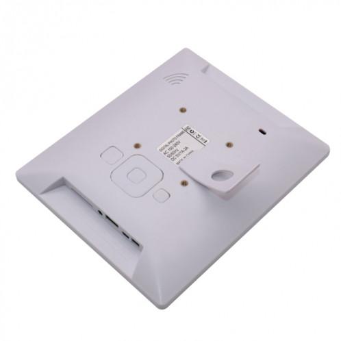 Cadre photo numérique TFT écran AC 100-240V 8 pouces avec support et télécommande, prise en charge USB / carte SD (blanc) SH512W966-08