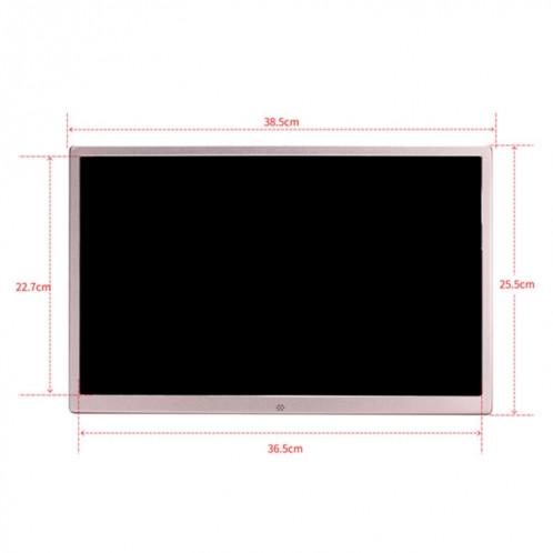 HSD1707 Cadre photo numérique haute résolution à affichage LED 1440X900 de 17 pouces avec support et télécommande, prise en charge des cartes SD / MMC / MS / port USB SH6520700-09