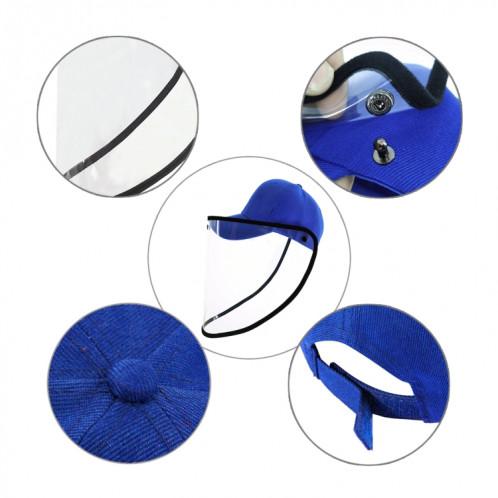 50 PCS Anti-Saliva Splash Anti-Spitting Anti-Fog Anti-Oil Protective Baseball Cap Mask Masque amovible Face Shield (Bleu) SH463L996-012