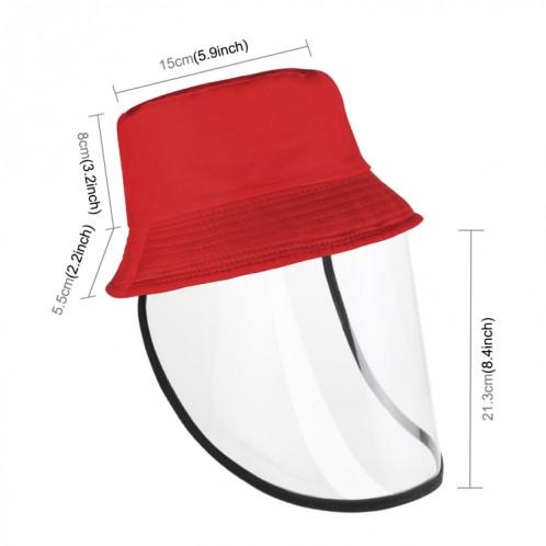 PULUZ Anti-Saliva Splash Anti-Spitting Anti-Fog Anti-Oil Protective Cap Kids Fisherman Hat Bouclier amovible (Rouge) SP471R935-011