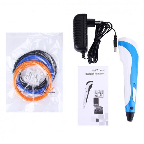 Stylo d'impression 3D à main, prise UE (bleu) SH034L1559-013