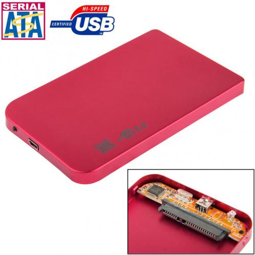 Boîtier externe SATA HDD 2,5 pouces, taille: 126 mm x 75 mm x 13 mm (rouge) S2506R492-07