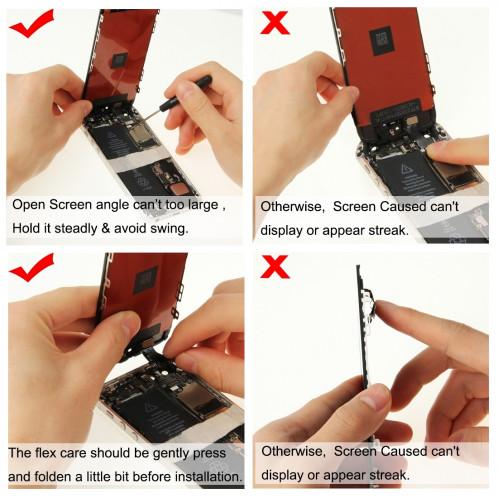 iPartsAcheter 3 en 1 pour iPhone 5C (LCD + Frame + Touch Pad) Digitizer Assemblée (Noir) SI0713168-08
