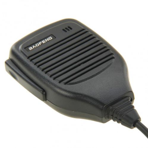 Clip-on microphone haut-parleur pour talkies-walkies, 3,5 mm + 2,5 mm écouteur + prise micro (noir) SC691B555-06