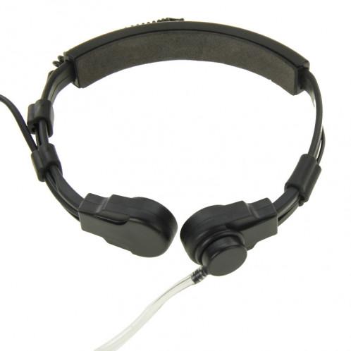 Oreillette Transceiver Écouteur Casque pour talkie-walkie, 3.5mm + 2.5mm Plug (Noir) SO695B1290-09