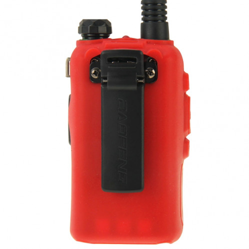 Housse en silicone Pure Color pour talkies-walkies série UV-5R (rouge) SH696R1475-08
