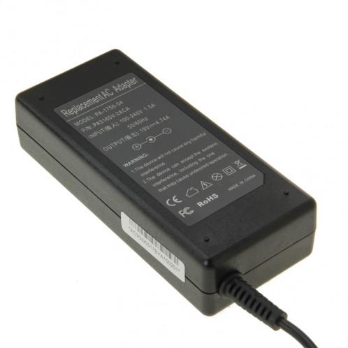 PA-1750-04 19V 4.74A Mini Adaptateur CA pour ordinateur portable Acer / Toshiba, Conseils de sortie: 5.5mm x 1.7mm (Noir) SP353B637-06