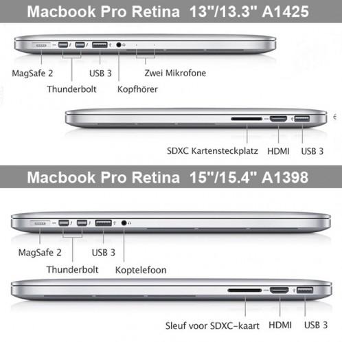 Cristal dur étui de protection pour Macbook Pro Retina 13,3 pouces A1425 (transparent) SH012T826-08