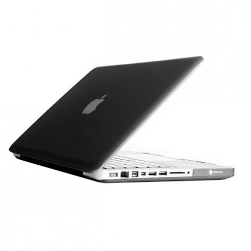 Boîtier de protection en plastique dur givré pour Macbook Pro 13,3 pouces (noir) SH014B473-07