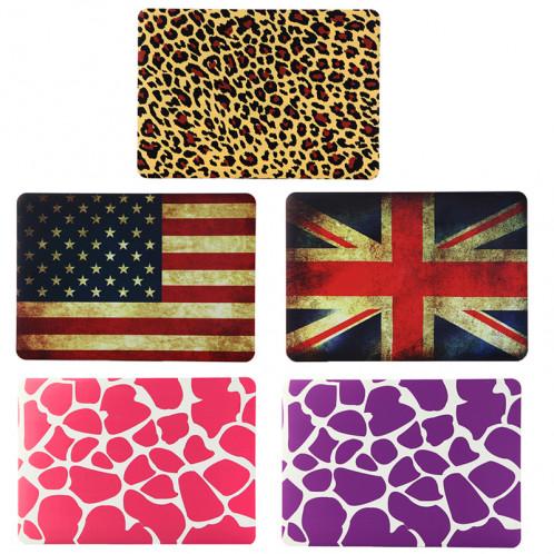 Rétro modèle de drapeau américain givré étui de protection en plastique dur pour Macbook Air 13,3 pouces SH021B303-07