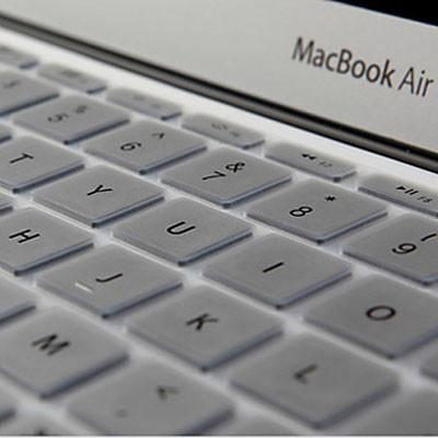 ENKAY Soft Silicone Clavier Protecteur Skin pour MacBook Air 13,3 pouces & Macbook Pro avec Retina Display 13,3 pouces & 15,4 pouces (Version US) / A1398 / A1425 / A1369 / A1466 / A1502 (Argent) SH300S714-03