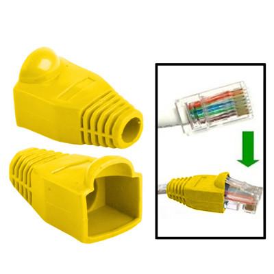 100 pcs câble réseau couvre-bouchon pour RJ45, jaune S1719Y867-01