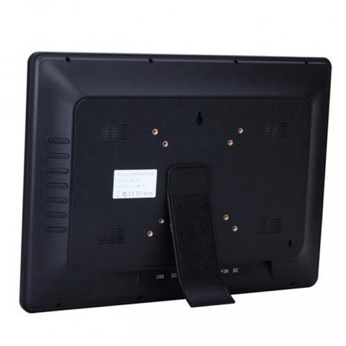 Cadre photo numérique multimédia à affichage LED de 14 pouces avec support et lecteur de musique et de film, prise en charge de la carte USB / SD / MS / MMC SH229B1967-010