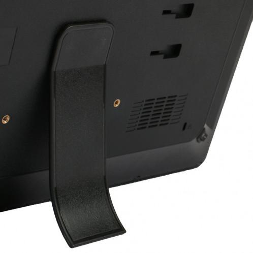 Cadre photo numérique multimédia à affichage LED HD 1080P de 17 pouces avec support et lecteur de musique et de film, prise en charge de la carte USB / SD / MS / MMC (noir) SH302B828-012