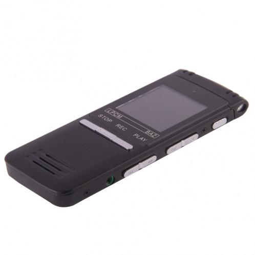 Enregistreur vocal numérique à affichage à cristaux liquides professionnel de 8 Go de VM202 avec le joueur de VOR MP3 (noir) SH0154506-07