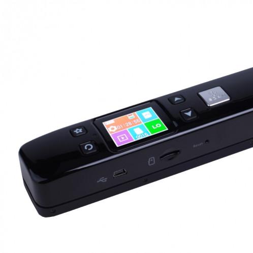 iScan02 Scanner portatif portable à double rouleau de document mobile avec l'affichage à LED, support 1050DPI / 600DPI / 300DPI / PDF / JPG / TF (noir) SI002B7-09