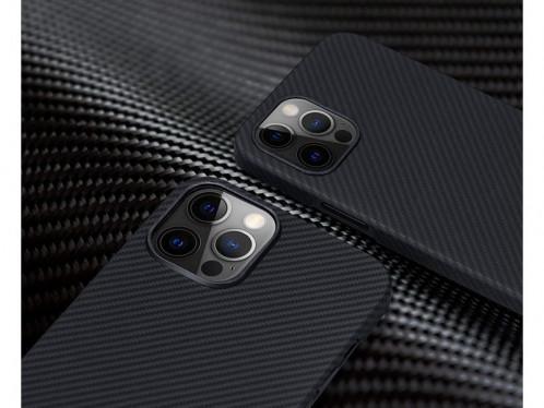 Novodio coque pour iPhone 12 Pro Max en Kevlar et fibres de carbone Noir IPXNVO0189-04