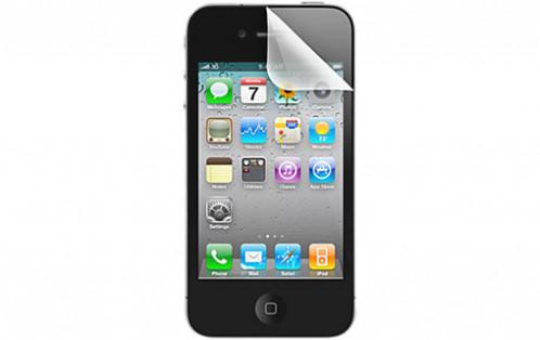 Novodio ScreenGuard Pack de 3 protections (avant + arrière) pour iPhone 4/4S AMPNVO0249-02