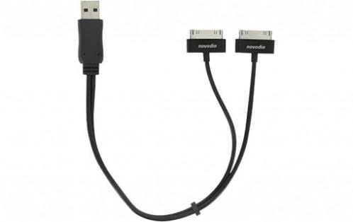 Novodio Câble USB avec double connecteur dock pour iPod / iPhone AMPNVO0253-02