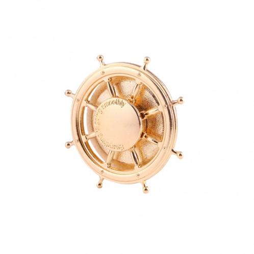 Rudder Wheel Shape Fidget Spinner Réducteur de stress pour jouets Jouets anti-angoisse pour enfants et adultes, environ 0,5 minutes Temps de rotation, perles en acier inoxydable Roulement + Matériau en alliage SR356J-08