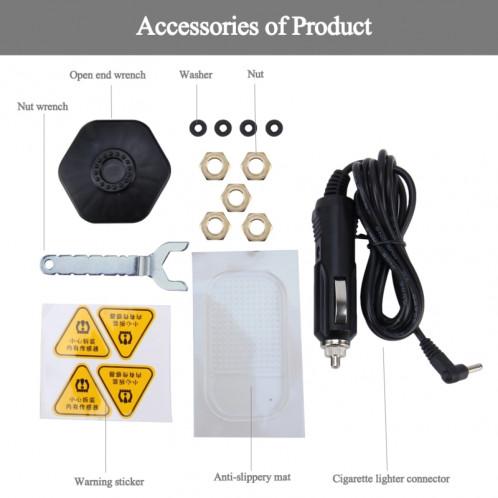 TPMS Car Auto Système universel de surveillance de la température de la pression des pneus USB Moniteur de puissance solaire Affichage LCD sans fil 4 Capteur externe Pression des pneus ST7851-08