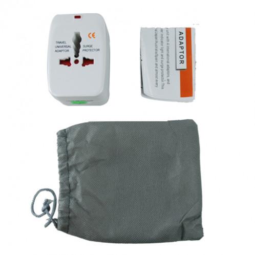Adaptateur courant universel pour les voyages + Protection parasurtenseur ACUPVPP01-03