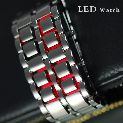 Montre à LED rouge style samourai japonais MLRSSJ01-07