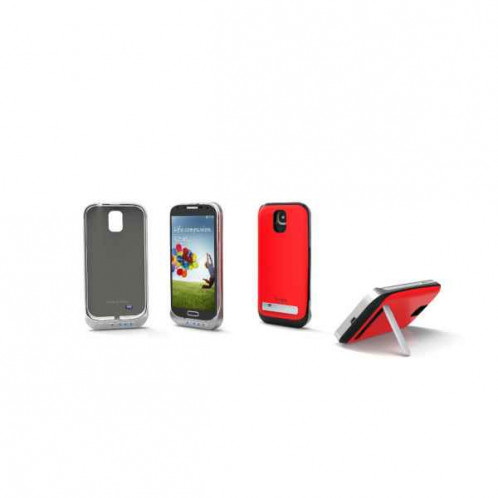 Coque Batterie 3500mAh Rouge Pour Samsung I9500/I9505 Galaxy S4 379679_RED-01