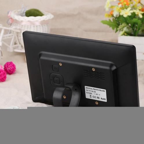Cadre photo numérique grand écran 10,1 pouces HD avec support et télécommande, Allwinner E200, Réveil / MP3 / MP4 / Lecteur de film (blanc) SC560W4-08