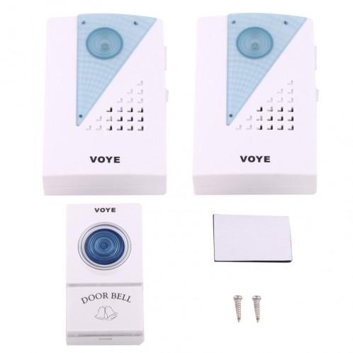 VOYE V001A2 Sonnette à LED Home Smart Smart sans fil avec double récepteur, distance de télécommande: 120 m (Open Air) SV1173-08